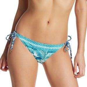 Turquoise and Blue Reversible Bikini Bottoms